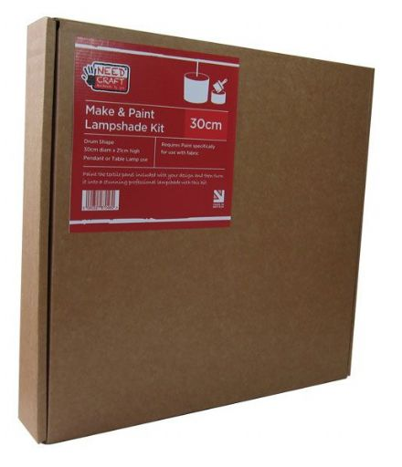 Trade Pack  24 x Make & Paint - 30cm Drum Lampshade Making Kit
